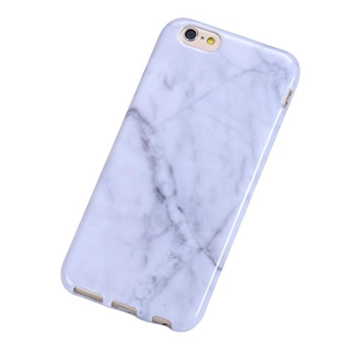 Sannysis Marble Texture Print Cover Case Skin For iPhone 6S (White)
