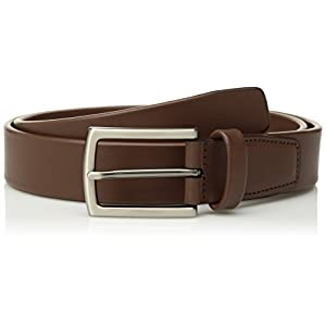 Perry Ellis Men's Tubular Belt, Brown, 40