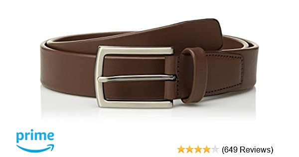 52ddf70a85346 Perry Ellis Men's Leather Tubular Dress Belt, Brown, 30 at Amazon Men's  Clothing store: