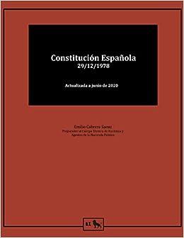Constitución Española 1978: para estudiantes y opositores Derecho - Textos Legales: Amazon.es: Cabrera, Emilio, Teams, Books: Libros