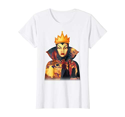 Womens Disney Snow White Evil Wicked Queen Graphic T-Shirt]()