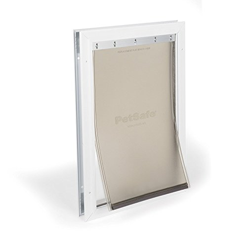PetSafe Freedom Aluminum Pet Door for Dogs and Cats, Medium, White, Tinted Vinyl Flap from PetSafe