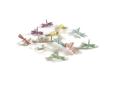 Dragonfly Brads Pastel Assorted 12pc