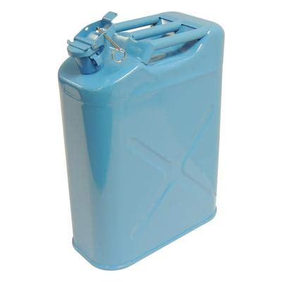 BLUE 5 GALLON STEEL WATER CAN ()