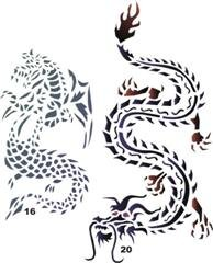 amazon com airbrush temporary tattoo stencil template set 29 dragon