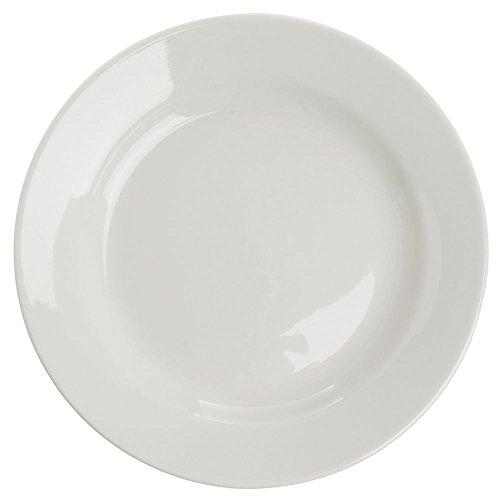 Rolled Edge White China - Vertex Vista Dinner Plate Rolled Edge Warm White China - 9