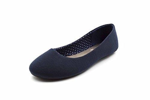 Simply Petals Girls Cute Jersey Ballet Flats (12 Little Kids, Navy)]()