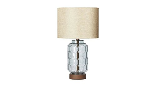 Geo Textured Glass Table Lamp, CFL Bulb Included