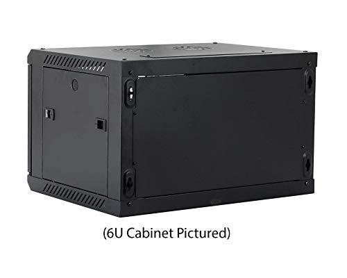 Kenuco 9U Wall Mount Rack Server Cabinet Data Network Enclosure 19-Inch Server Network Rack with Locking Glass Door Black by KENUCO (Image #5)