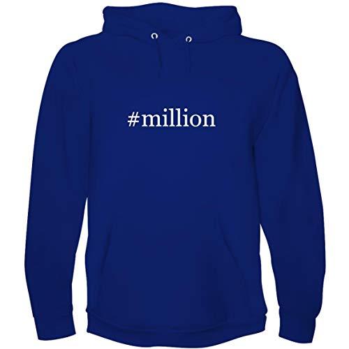 The Town Butler #Million - Men's Hoodie Sweatshirt, Blue, Large