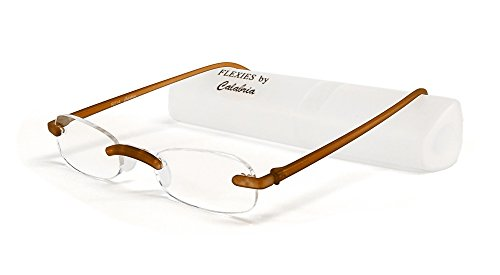 Calabria Reading Glasses - 714 Flexie in Root Beer +2.25