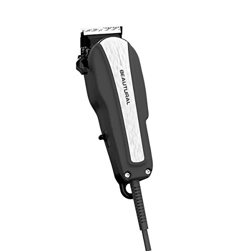 (Beautural 20-Piece High Performance Haircutting Kit, Hair Trimmers, Clippers with Powerful and Durable Motor and Finest Precision Blades, Secure Guide Combs, Scissors, Barber Cape, Storage Case )
