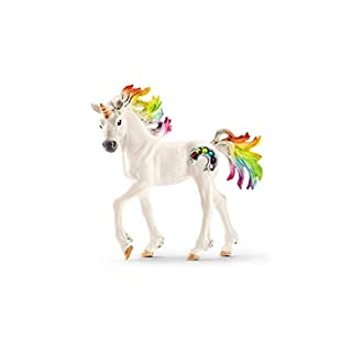 SCHLEICH bayala Rainbow Unicorn Foal Imaginative Toy for Kids Ages 5-12