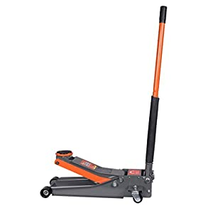 BAISHITE Hydraulic 3 Ton Jack Low Profile Trolley Floor, Dual Rapid Pump Fast Lifting