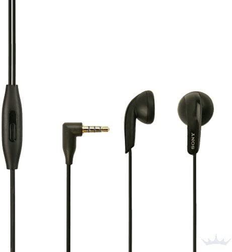 Sony MH 410C Earbud Headphones for Sony Xperia M2 Aqua, Headphones in Black With Call Accept Button, OnOff Button, In Ear Headphones