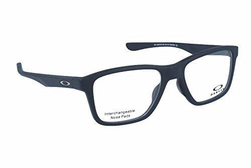 Oakley OX 8107 01 Trim Plane (TRUBRIDGE Satin Black Plastic Square Eyeglasses - Of Oakleys Pictures