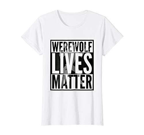 Womens Funny Halloween Costume Ideas 2018 Werewolf Shirt Medium White