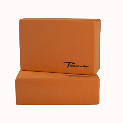Timberbrother Set of 2 Yoga Blocks - Choose Your Color & Size (Orange, 9