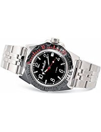 - Vostok Amphibian 110909 / 2416b Scuba Diving Military Russian Watches Mechanical Automatic Mens Silver