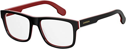 Carrera Plastic Rectangular Eyeglasses 55 02OP Striped Black White