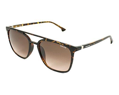 Sunglasses Police JUNGLE 3 SPL366 0978 Unisex Tortoise Square - Sunglasses Police Usa