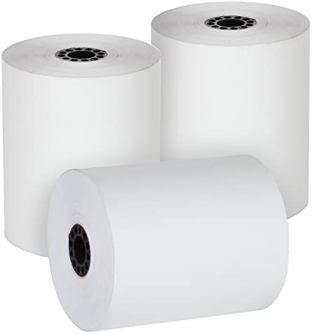 """FHS Retail Thermal Cash Register POS Paper Rolls 3 1/8"""" x 230' MADE IN USA - BPA Free (32 Pack)"""
