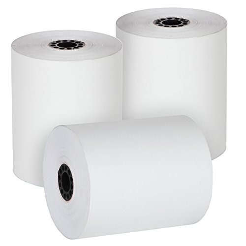 FHS, Thermal Paper Cash Register Rolls, 3 1/8 x 230', 50 Rolls in Case, BPA Free Made in USA/Canada by FHS Retail