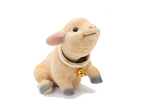 Batty Bargains Grey Charming Bobblehead Bunny Rabbit with Dashboard Adhesive