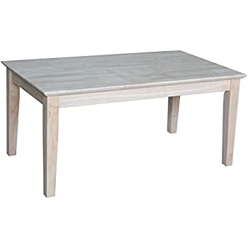 International Concepts OT 9TC Tall Shaker Coffee Table, Unfinished