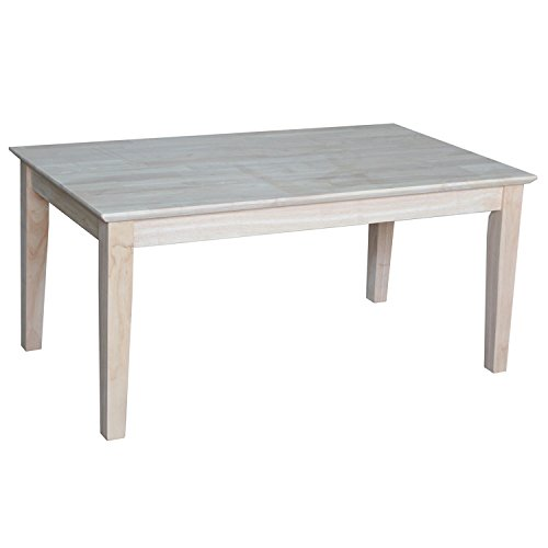 International Concepts OT-9TC Tall Shaker Coffee Table, Unfinished