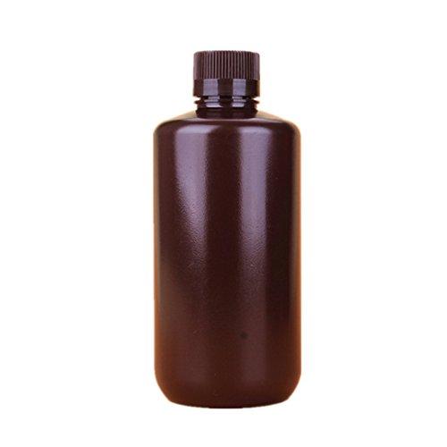 Aibelong 1000ML Leak Proof Plastic Narrow Mouth Laboratory Reagent Bottle with Screw Cap (Pack of 6 PCS)