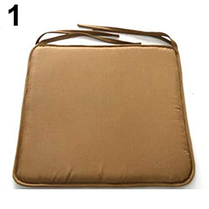Maserfaliw Seat CushionRemovable Seat Pad Dining Garden Outdoor Patio Pillow Solid Tie On Chair Cushion - Brown ¡ï Square Indoor Cushion ...