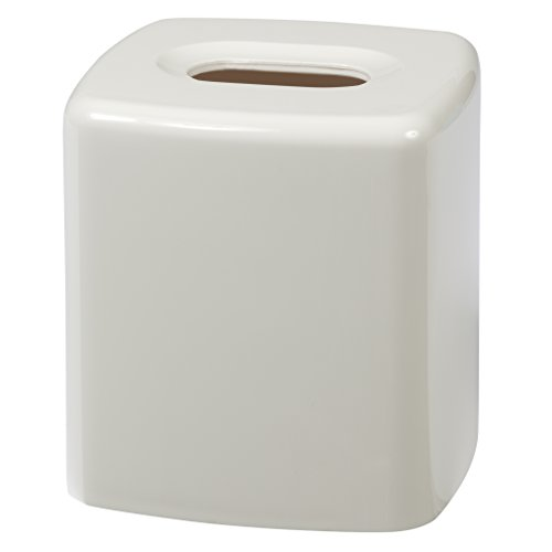 Creative Bath Products Gem Tissue Cover, White (Dispenser Tissue Plastic)