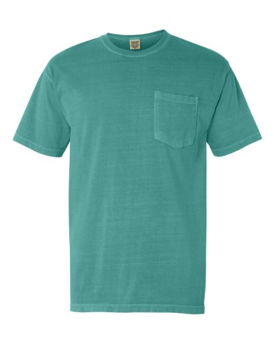 Comfort Colors Men's Adult Short Sleeve Pocket Tee, Style 6030, Sea Foam, Medium