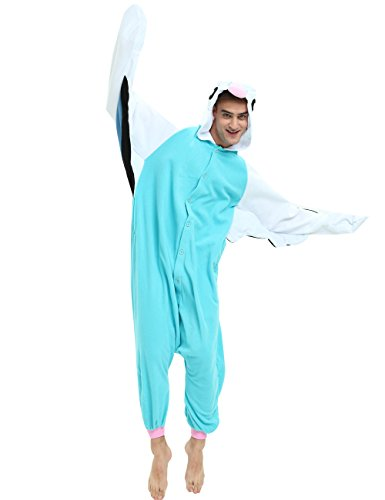 Parrot Onesie for Adults and Teenagers, Halloween Bird Animal Pajama Costume for Women and Men (The Birds Costume Male)