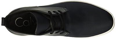 Calvin Klein Men's Banner Nylon/Brushed Smooth Sneaker