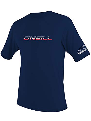 O'Neill Men's Basic Skins Slim Fit Rash Tee LT Navy (3402IB)