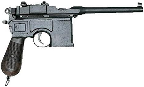Denix Replica de la Pistola C96. Pistola Alemana de la Segunda Guerra Mundial | Pistola clásica de Ornamento. Metal Envejecido. Artículo de coleccionista.