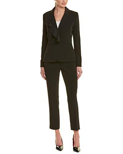 Tahari by Arthur S. Levine Womens Tahari ASL 2Pc Pant Suit, 16 Black