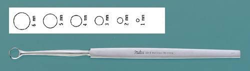 Miltex 33-4 Fox Dermal Curette, Round, 4 mm Tip Diameter