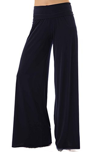 Uptown Apparel Plus, Curvy Tall Long Women's Palazzo Pants, Made in USA