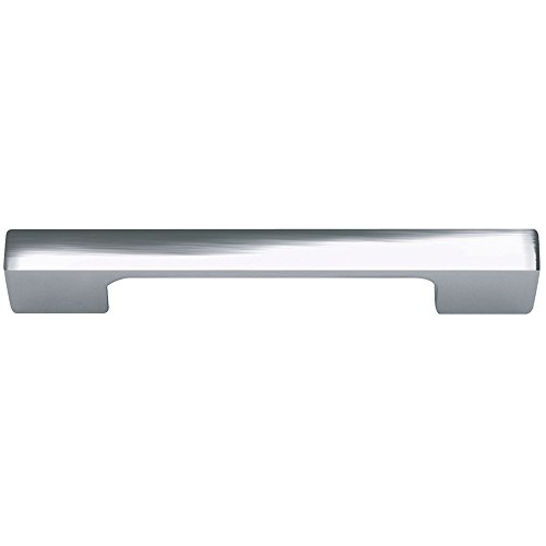 Atlas Homewares A836-CH 4-5/8-Inch Euro-Tech Collection Thin Square Pull, Polished Chrome