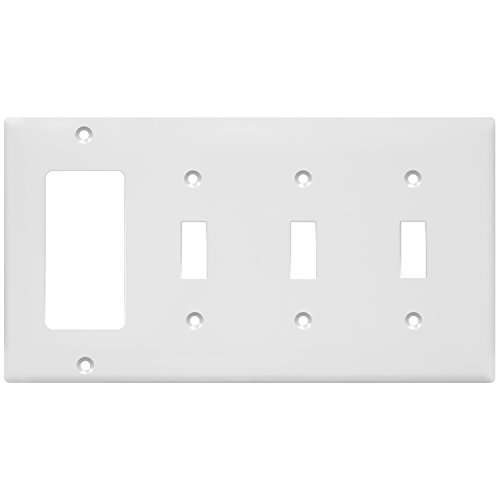 - ENERLITES Combination Toggle Light Decorator Switch Wall Plate, Size 4-Gang 4.50