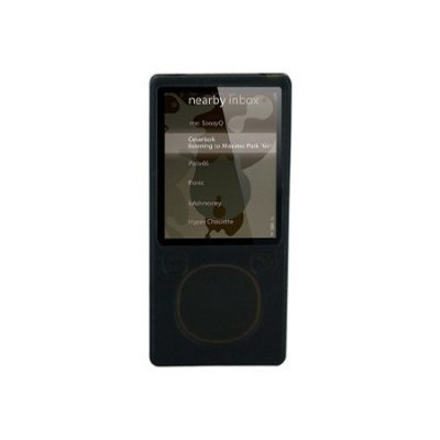 (MICROSOFT ZUNE 4GB/8GB BLACK Premium Silicone Skin Protective Silicon Cover Case With Armband And LCD)
