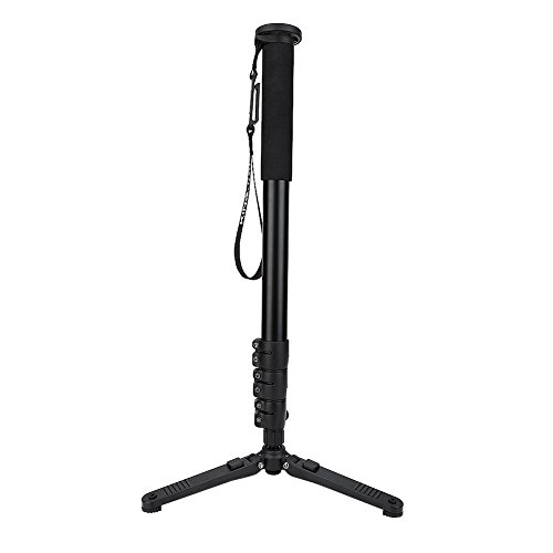 Adjustable Camera Monopod with Folding Detachable Tripod Base Accessory