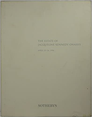 Book The Estate of Jacqueline Kennedy Onassis, April 23-26, 1996
