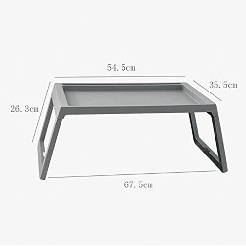 LIULIFE Bed Table Tray - Foldable Breakfast Serving Tray for Kids Eating, Laptop Computer Desk for Sofa, Portable Outdoor Camping Stand with Floding Legs,White-54.535.5cm by LIULIFE (Image #6)