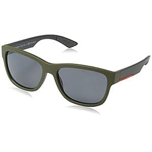 Prada Linea Rossa PS 3QS UBW5Z1 Sunglasses Green Rubber