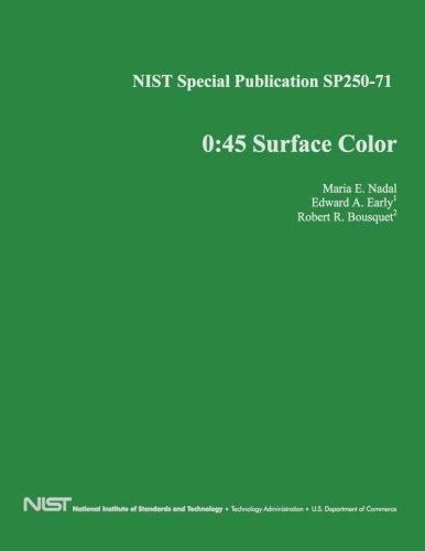 NIST Special Publication SP250-71: 0:45 Surface Color pdf epub