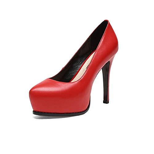 pour Mode Mariage Red ZPEDY Chaussures Chaussures Confort Femmes Pointues Hauts Talons De OqZHT5Bx